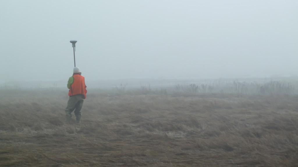US Fish & Wildlife scientists conduct RTK monitoring in the fog